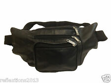 Leather Travelling Waist Bag Three Big Pockets Travel Hiking Leather Back Packer