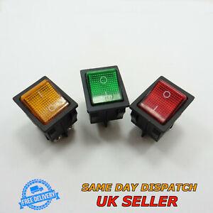 AC 250V 16A 125V 20A ON/OFF Rocker Switch Rectangle DPST Plastic KCD4