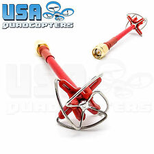 1pc RealAcc 4-Leaf 5.8G FPV Antenna 5dbi RHCP Clover SMA Inner Needle (Red)