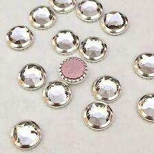 Swarovski Crystals Hot Fix 20x Ss34 Flatbacks Diamantes Rhinestones Clear & Gold