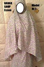 2-tlg Islamische Gebetskleidung für frauen  kaftan Abaya Burka Hijab توب صلاة