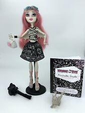 Monster High 1st Wave Rochelle Goyle Muñeca Mascota Bolso diario en muy buena condición Libre P&P