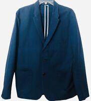 Paul Smith Jeans Mens Size Large Blue 3 Button Casual Cotton Blazer Jacket