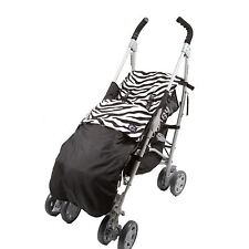 Genesis Universal Impermeable Cebra & Negro Saco de paseo con forro polar