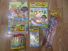 5pc Lot 1997 Unique Arthur Aardvark Birthday Multi-color Party Goods Nos