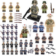 WW2 minifigure US Soviet British Axis Soldier Minifig MOC ARMY use with Lego