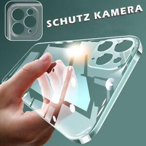 Schutz Hülle für iPhone 13 12 11 Pro XR SE 8 Handy Kamera Schutzhülle Case Klar