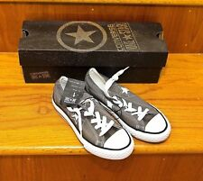 Converse All Star One Star Kids Boys Junior Size 1 CT OX Charcoal/W NEW NWB