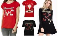 LADIES PROSECCO HO HO GLITTER WOMEN CHRISTMAS NOVELTY T-SHIRT TOP Swing Dress