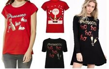 LADIES PROSECCO HO HO GLITTER WOMEN CHRISTMAS NOVELTY T-SHIRT TOP Swing Dress