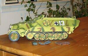 *** ULTIMATE SOLDIER 1/18 WWII GERMAN HANOMAG Sdkfz 251/1 HALFTRACK ***
