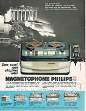 PUBLICITE ADVERTISING 014   1963   PHILIPS  magnétophone
