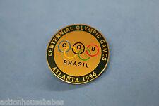 1996 ATLANTA  BRASIL PIN/BADGE/HAT/LABEL -  96  CENTENNIAL OLYMPICS GAMES -C.O.B