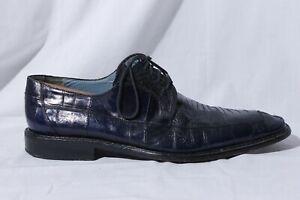 Mezlan Platinum Seager Men's Blue Vero Cuoio True Leather Oxford Dress Shoes 13M