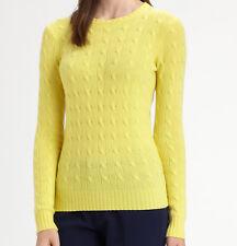 NWT $398 Ralph Lauren Black Label Cable Cashmere Sweater Size L