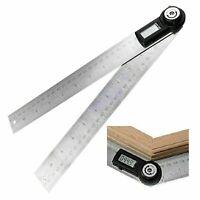 Digitaler Winkelsucher Meter 600MM Winkelmesser 0 ~ 360 Lineal ° Edelstahl O7S8