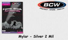 BCW - 50 Silver - Mylar - Comic Book Bags - Hüllen - 2 Mil mit Lasche NEU/OVP!