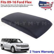 Fits 2009-2016 Ford Flex Leather Center Console Lid Armrest Skin Cover Black