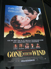 GONE WITH THE WIND ORIGINAL MINI 13x20 1998 RE-RELEASE MOVIE POSTER CLARK GABLE