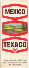 Vintage Road Map of Mexico, Texaco 1970 VERY GOOD CONDITION