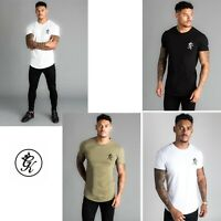 Gym King Mens Short Sleeve Stretch Crew Neck High Build Logo Core T shirt Tee
