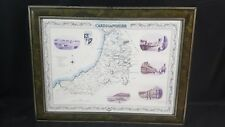 """22"""" X 16.25"""" Framed Map and Photographs of Cardiganshire in Victorian Times"""