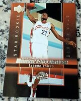 LEBRON JAMES 2003 Upper Deck #1 Draft Pick Star Rookie Card RC Lakers Cavs MVP $
