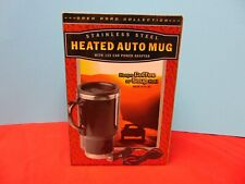 Heated Auto Mug Stainless Steel w/ 12v Car Power Adaptor Open Road Collection
