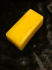 BEESWAX ~ 4 oz yellow dyed pure USA beeswax bar - buy more than one & save!