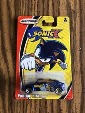 Sonic The Hedgehog Sonic X Matchbox Car Pontiac Piranha NIB 2004