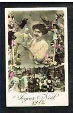Joyeux Noël - Carte Postale circulée en 1912.