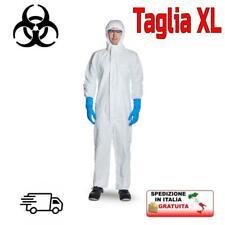 Tuta antivirus protezione rischio biologico certificata EN14126 professionale XL