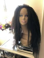 Costume Culture Layered Curly Rocker Wig Deluxe One Size Black Wig