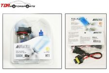 NOKYA Halogen Light Bulbs+Wire Harnesses H11 Cosmic White 5000K 80W