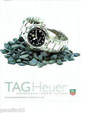 PUBLICITE ADVERTISING 086  1998  Tag Heuer  montre professional sport 200 métres