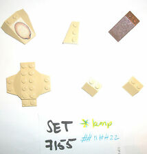 Tan Airplane Cross Dome 30303 3039 Printed Slope 6069 30363 old brown LEGO 7155