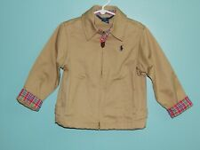 Polo Ralph Lauren Dark Khaki Navy Pony Casual Jacket Plaid Jacket sz 4T lknw