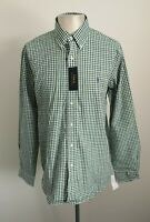 BNWT Mens Ralph Lauren Green Check Smart Casual Long Sleeved Shirt - Size Large