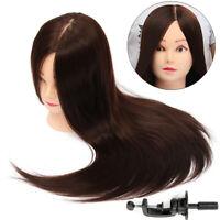 """26"""" vrais cheveux pratique formation tête Mannequin coiffure Doll + collier"""