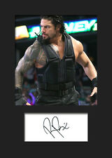 ROMAN REIGNS #2 (WWE) Signed Photo A5 Mounted Print - FREE DELIVERY