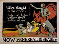 ADVERT WAR USA VENEREAL DISEASE PLAGUE HEALTH SEXUAL ART POSTER PRINT LV7283