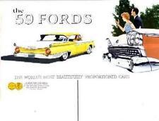1959 Ford Custom Fairlane Thunderbird  Sales Brochure Literature Dealer Options