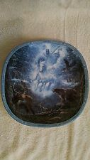 Snow Rider Plate Visions of the Sacred Collection Native Medaris 1993