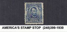 1903 US SC 304, Abraham Lincoln, Regular Issue - 5c Blue MNH*