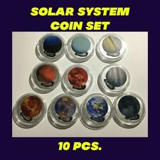 Challenge Coin Lot of 10-SOLAR SYSTEM Planets/Sun Silver Plated Collectors Set