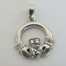 Vintage Sterling Silver Claddagh Scottish Irish Celtic Pendant 2.3g [5795]