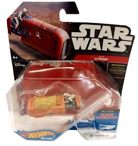 NEW 2015 Hot Wheels Star Wars Die Cast Rey's Speeder Collectible The Force