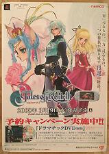 TALES of Rinascita RARA PSP 0,5 CM X 73 giapponese PROMO poster # 2