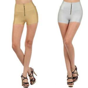 High Waist Shorts Leggings Pants Zipper Wide Waist Band  GY13085