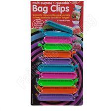 10 Bag Clips Reusable Tie Plastic Storage Sealing Fridge Freezer Food Fresh